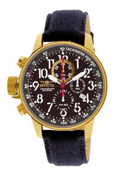 Relógio Invicta I Force Original 1515 Dourado Pulseira Preta