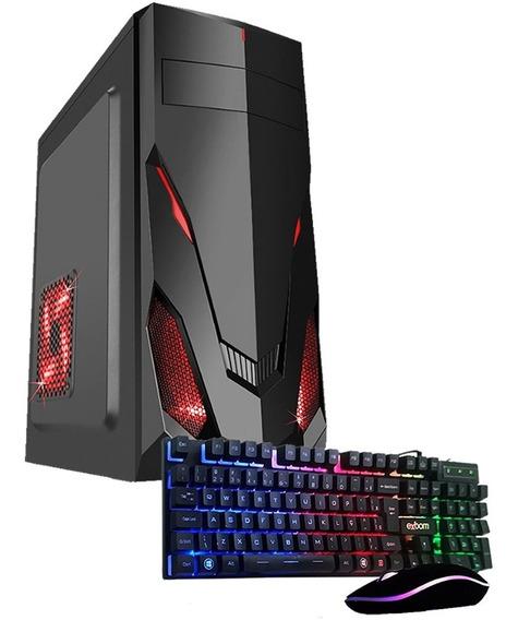 Pc Gamer Completo Cpu 8gb Hd500gb Placa De Vídeo R5 Mouse