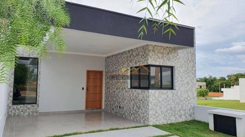 Casa Com 3 Dormitórios À Venda, 105 M² Por R$ 600.000,00 - Condomínio Village Moutonnée - Salto/sp - Ca1706