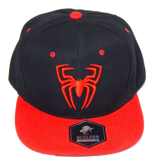 Gorra Hombre Araña Marvel Bordado 3d Black&red Spiderman