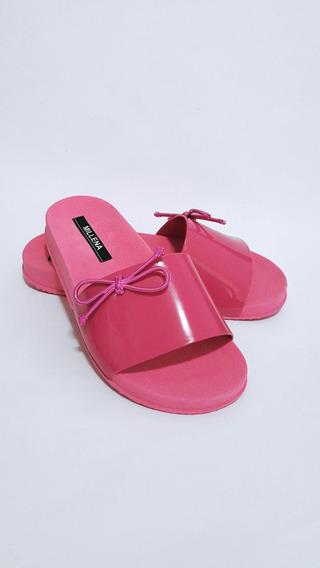 Sandalias Femininas Rasteirinhas Chinelo Slide Pink