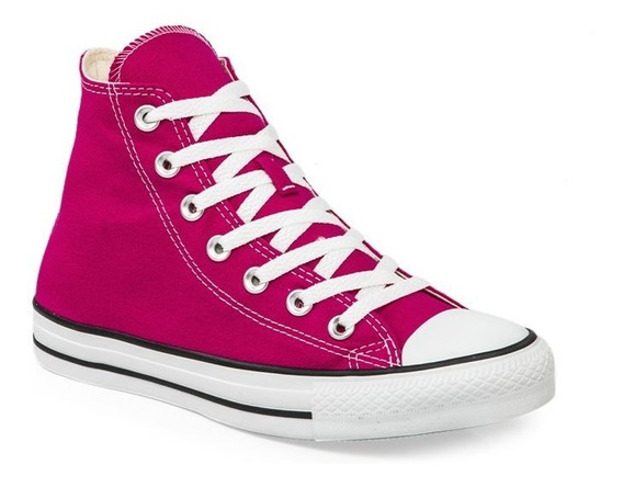 Botitas Converse All Star Fucsia Blanco Exclusiva Mujer