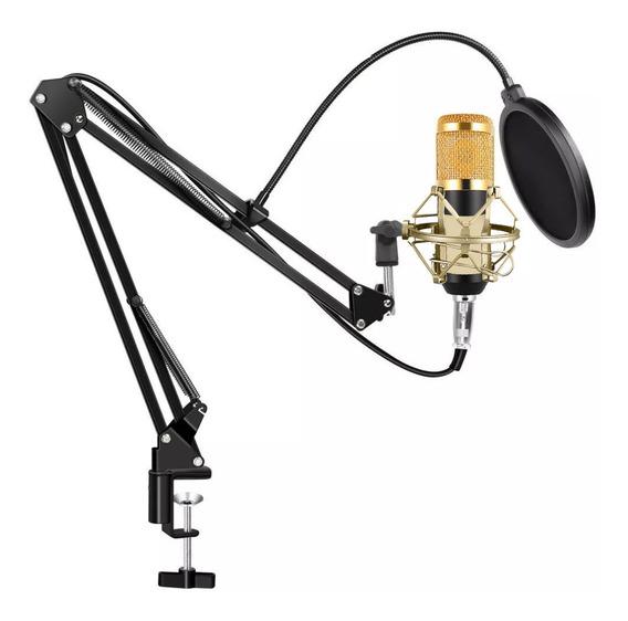 Microfono Condenser Gadnic Grabacion Estudio Profesional