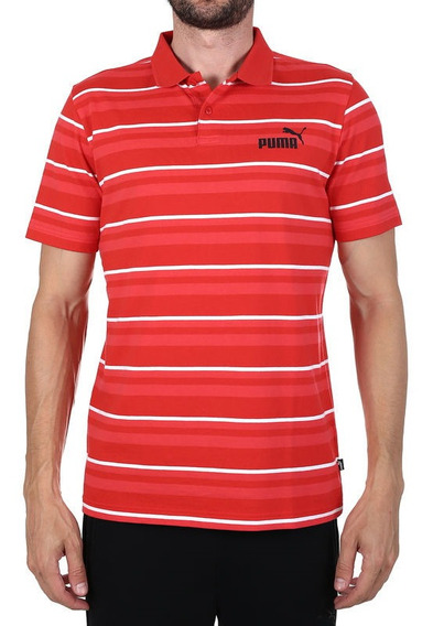 Camisa Polo Puma Hombre Caballero Pique Golf Striped Rayas