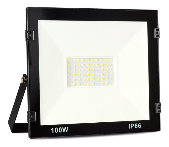 Refletor Led 100w Holofote Branco Frio Prova D