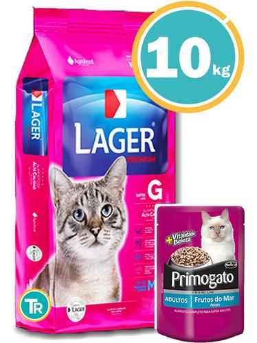 Imagen 1 de 7 de Ración Para Gato - Lager Adulto + Obsequio Y Envío Gratis