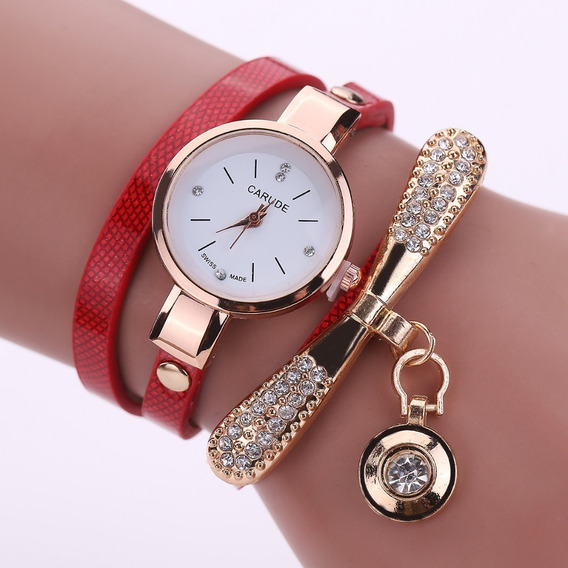 Relógios Feminino Pulseira Vintage Vermelho Frete Grátis