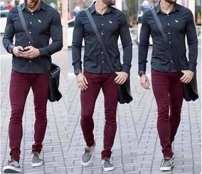 Calça Jeans Masculina Skinny Com Lycra Do N 36 Ao 48 Sk Mand