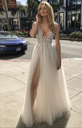 Vestido De Novia Para Playa En Tul Color Blanco Mercado Libre