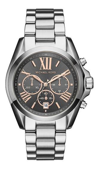 Relógio Michael Kors Feminino Bradshaw Nf + 2 Anos Garantia