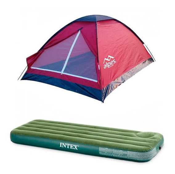 Combo Carpa 2 Personas Dome + Colchón Single Con Inflador