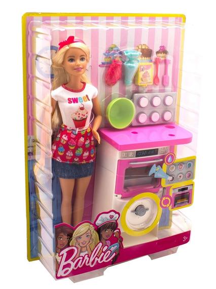 Barbie Cozinhando E Criando Chefe De Bolinhos Fhp57 - Mattel