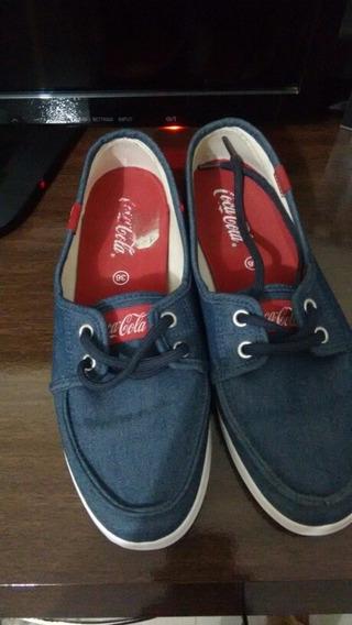 Tênis Coca Cola Usado Apenas 3 Vezes N 36