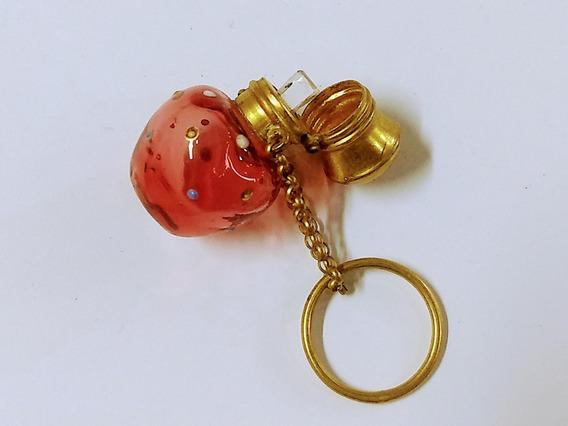 Perfumeiro Bolsa Antigo Francês Séc 18 Cristal Rubi Vermeil