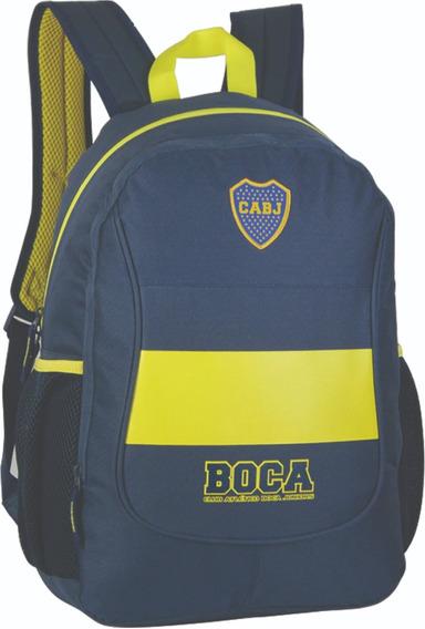 Mochila Boca Juniors Espalda 17,5 Pulgadas Oficial Bj26