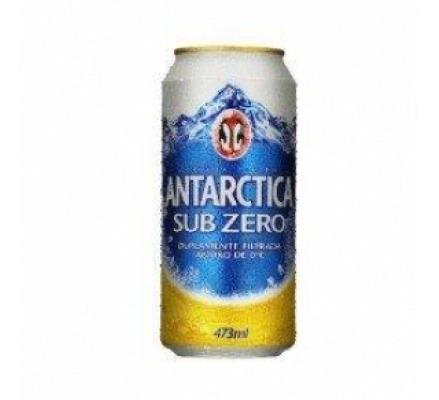 Kit Com 12 Unid Cerveja Antarctica 473ml Lata Sub Zero