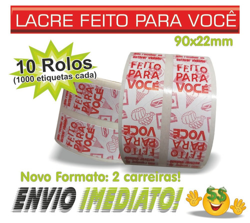 Etiqueta Lacre Segurança Alimentos Delivery Ifood 10.000 Und