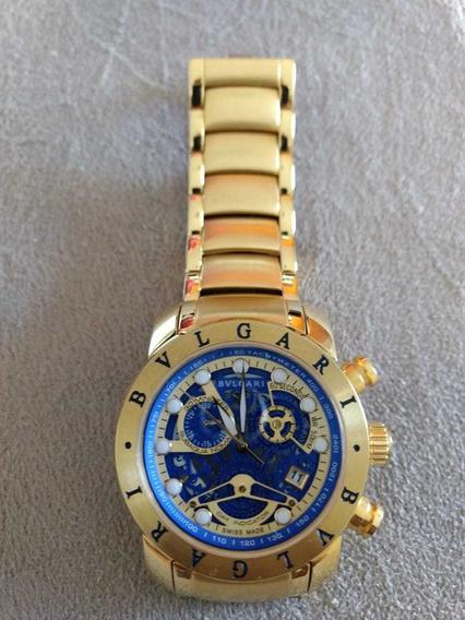 Relógio Bvilgari Banhado A Ouro