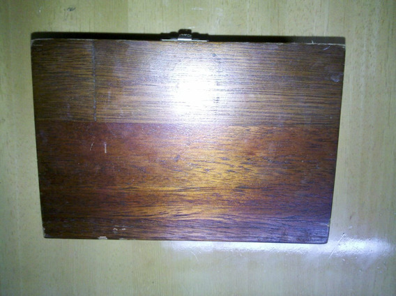 Caixa De Madeira Porta Joias Ou Porta Treco Antiga
