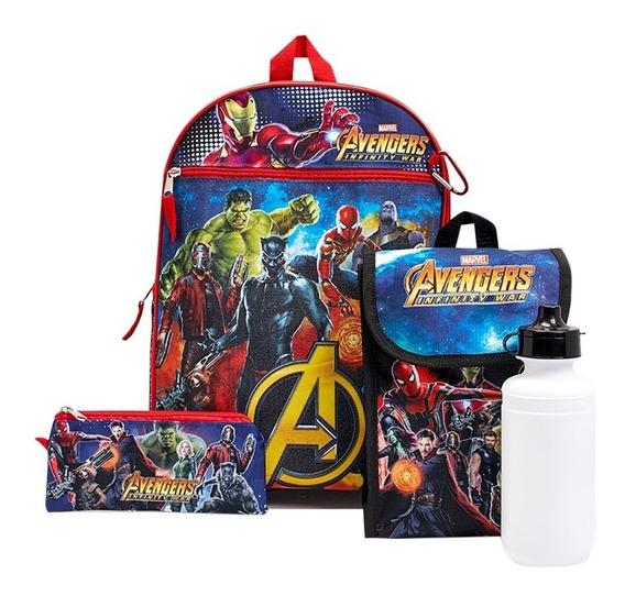 Morral Escolar Combo Avengers Nuevo Importado