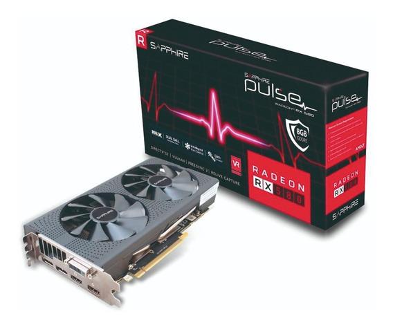 Placa De Video Gamer Amd Radeon Rx 580 8gb Ddr5 Sapphire Hf