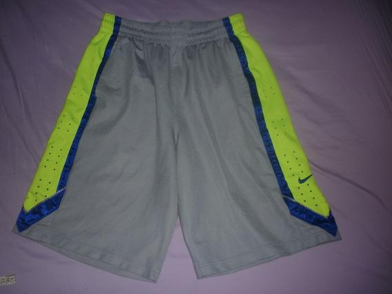 E Short Bermuda Basquet Nike Dri Fit Gris Talle L Art 79043