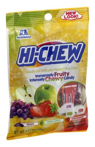 Imagen 1 de 1 de Dulce Chicloso Hi-chew Regular Mix Manzana, Uva Y Fresa