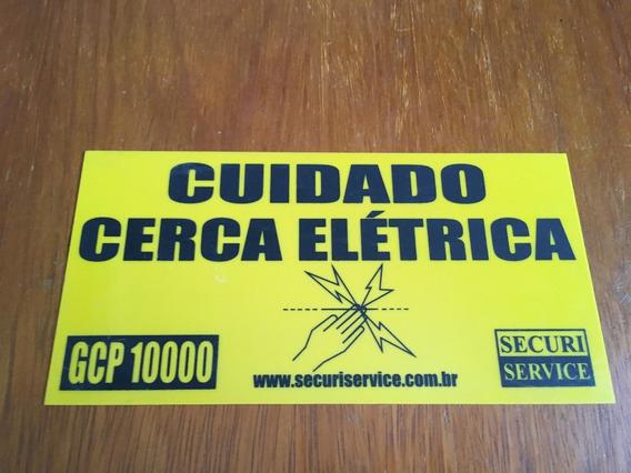 Placas Em Pvc - Cuidado Cerca Elétrica