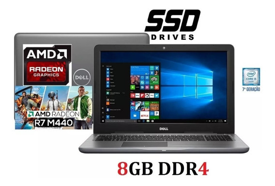 Notebook Dell Gamer I7 7ª Ddr4 Amd Radeon 4gb