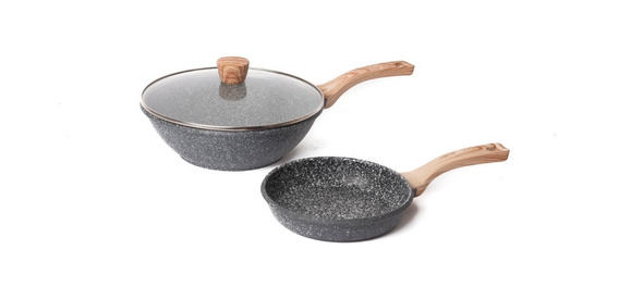 Maestro De Cocina Wok Granito Antiadherente 28 & Sarten 28cm