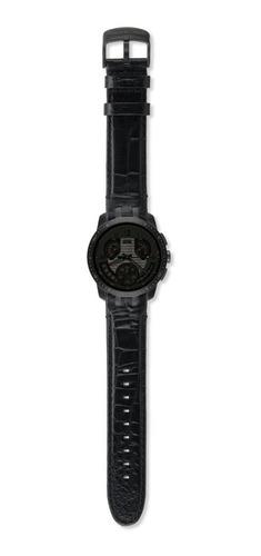 Relogio Swatch Retrograde  Cold Hour Black  - Yrb402