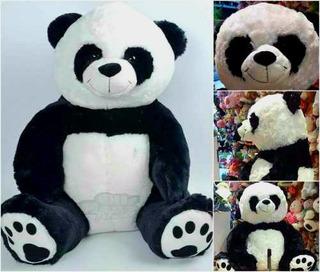 Oso Panda Peluche Pelaje Super Suave 80 Cm En L 45 Sentado