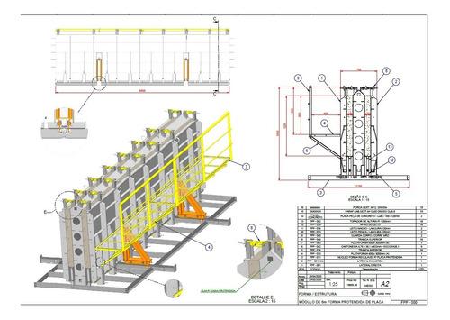 Imagem 1 de 10 de Vendo Projeto Forma Regulável Placa Protendida 1250 Á 1500mm