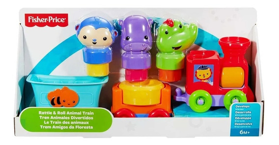 Juguete Bebe Fisher Price Tren Animales Divertidos