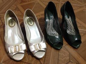 Lote De Sapatos Sandalia Feminino Tamanho 39 (2 Pares)