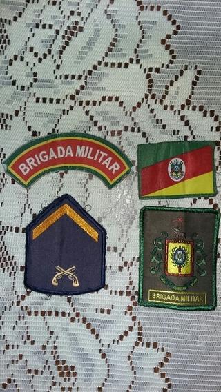 Lote Parches Insignias Distintivos Policía Militar Brasil