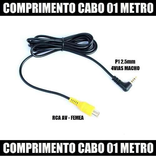 Cabo Adaptador Para Camera De Ré Gps P1 Macho E Rca Femea.