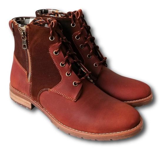 Botin Zapato Para Hombre 100% Cuero Modelo Mountain T:39-43