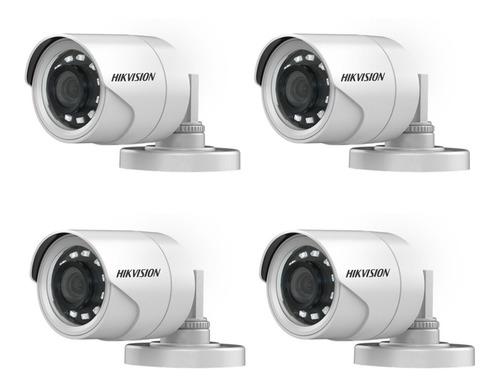 Imagen 1 de 10 de 4 Camara Seguridad Hikvision Hd 1080p 2mp Exterior Infrarroja 16d0t Irf