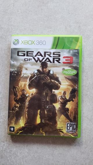 Gears Of War 3 Jogo Xbox 360 Original Mídia Física