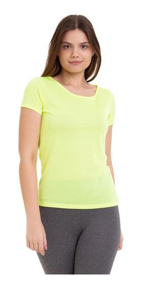 Camiseta Esportiva Amarela Neon