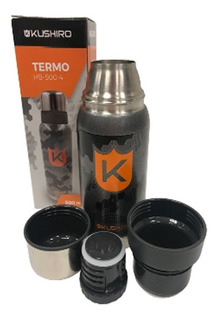 Termo Doble Acero Inoxidable 500ml Mantiene 24hs Kushiro