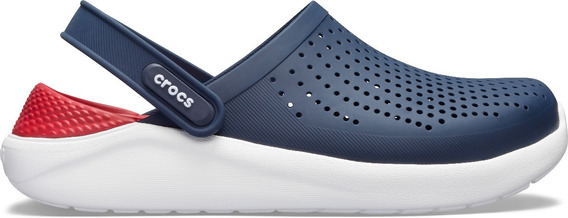 Sandalia Unisex Crocs Literide Clog Azul Marino / Rojo