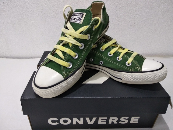 Zapatillas Converse Baja Verde Lona Urbanas Usadas 36,5