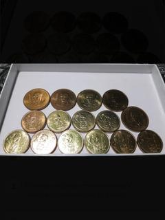 Lote Numismática De Monedas 100 Carranza, 500 Madero Y 1000.