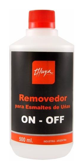 Removedor Esmaltado Semipermanente Gel On Off Thuya X500 Ml