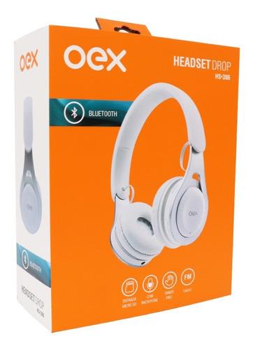 Fone De Ouvido Bluetooth Oex Drop Hs306 - Branco