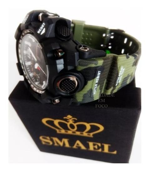 Relógio Masculino Smael 100% Original Militar Prova D´água