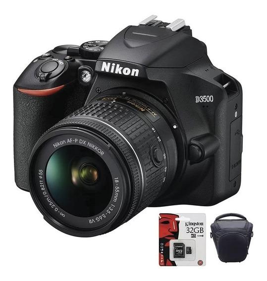 Camara Nikon D3500 Reflex Profesional Fotos + Bolso + 32gb