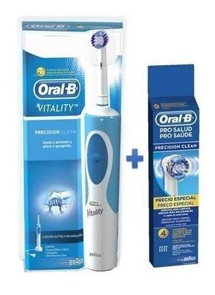 Escova Elétrica Oral-b Vitality D12 220v+refil Precision C 4